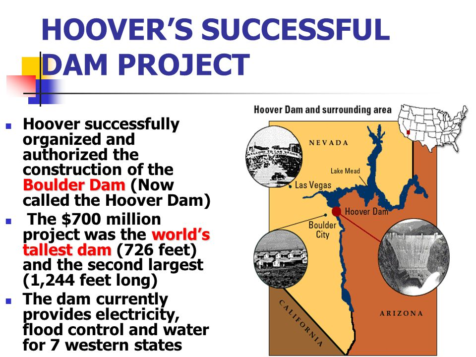 HOOVER'S SUCCESSFUL DAM PROJECT