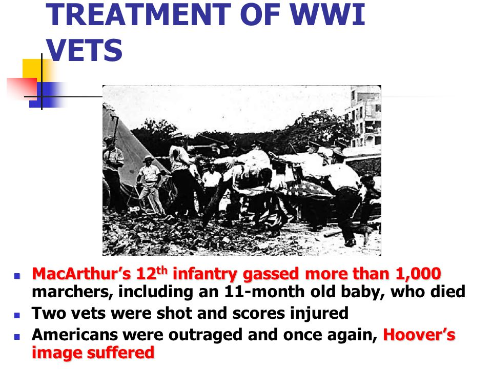 AMERICANS SHOCKED AT TREATMENT OF WWI VETS