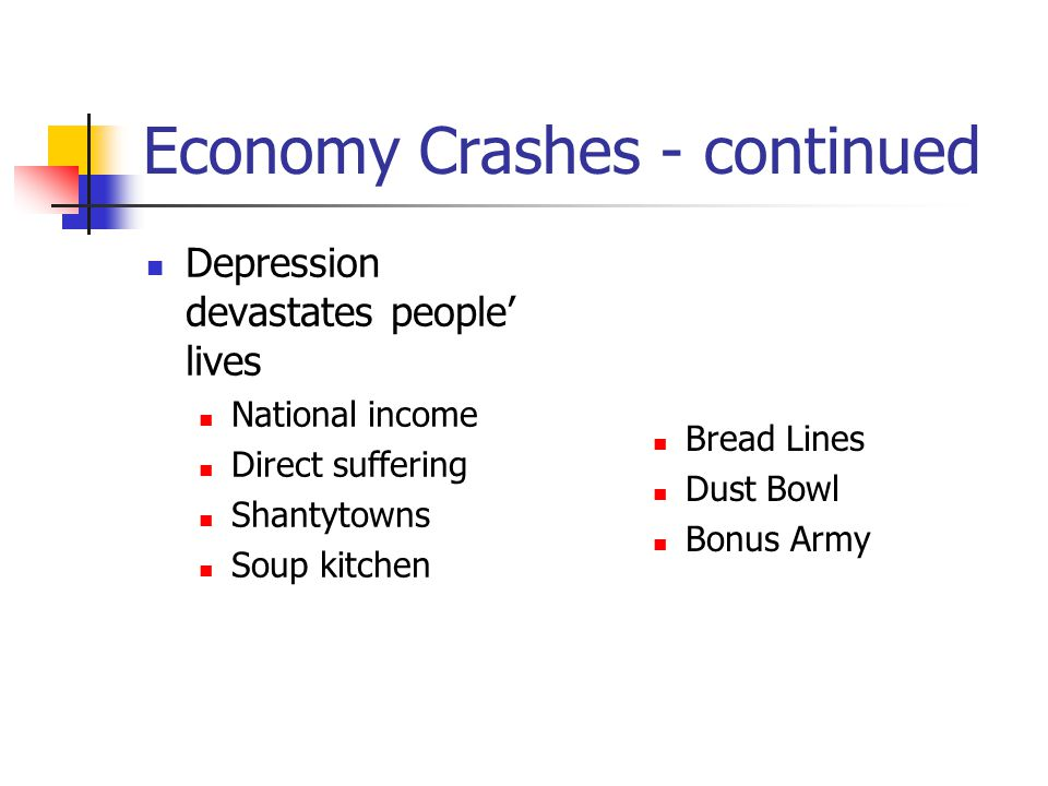 Economy Crashes - continued