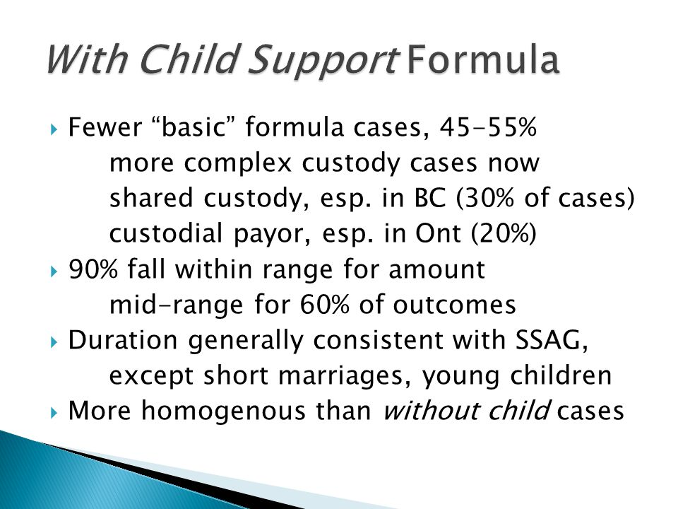 With Child Support Formula