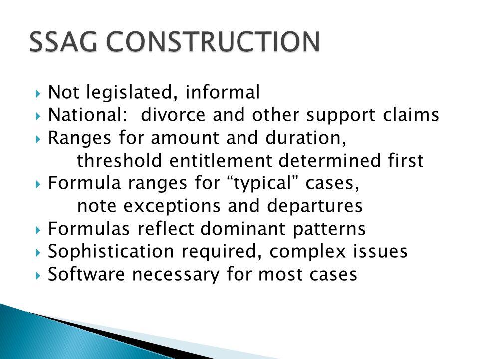 SSAG CONSTRUCTION Not legislated, informal