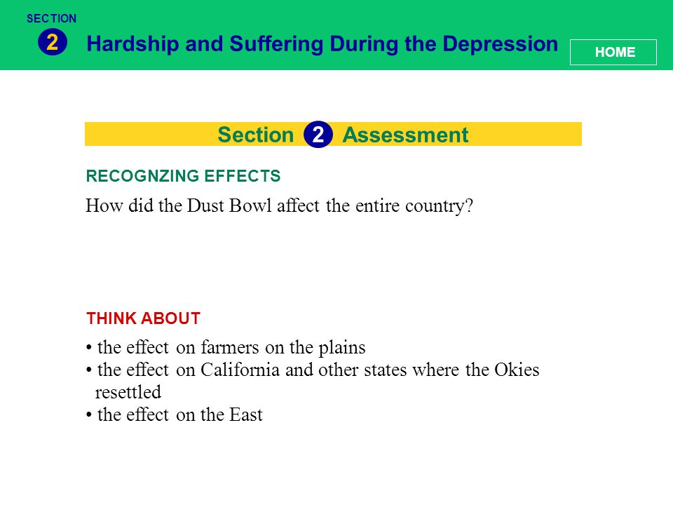 2 2 Hardship and Suffering During the Depression Section Assessment