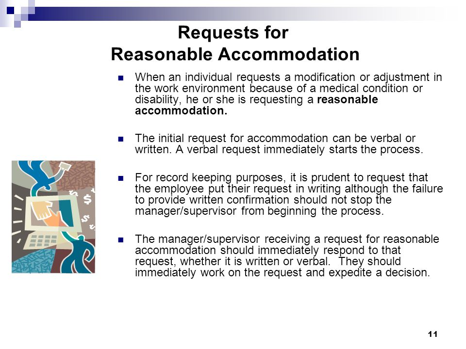 Requests for Reasonable Accommodation
