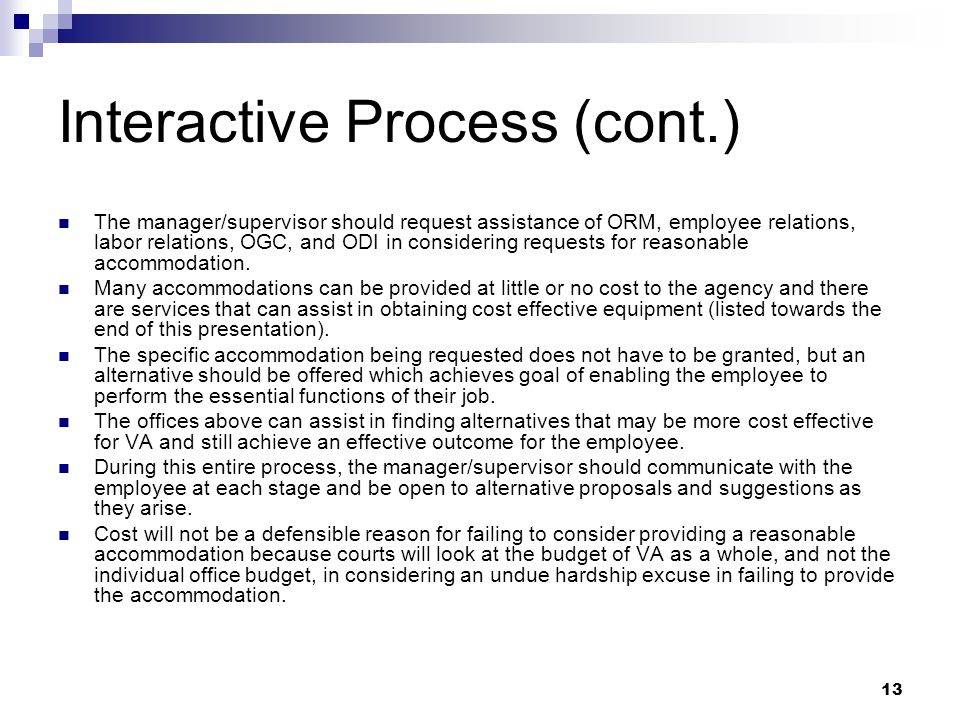 Interactive Process (cont.)