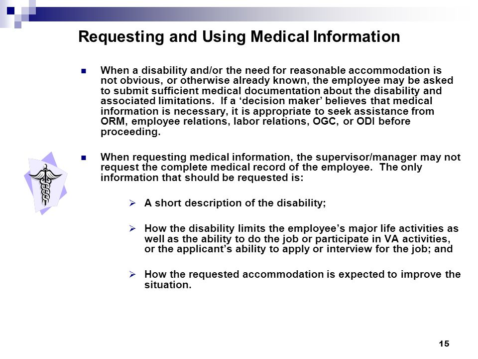 Requesting and Using Medical Information