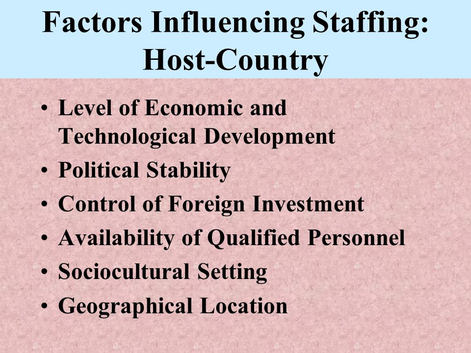 Staffing in a Foreign Location