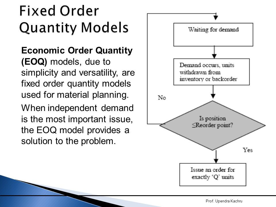 Fixed Order Quantity Models