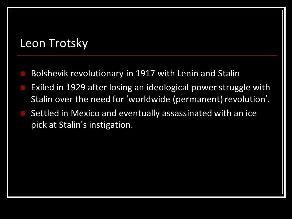 Leon Trotsky Bolshevik revolutionary in 1917 with Lenin and Stalin
