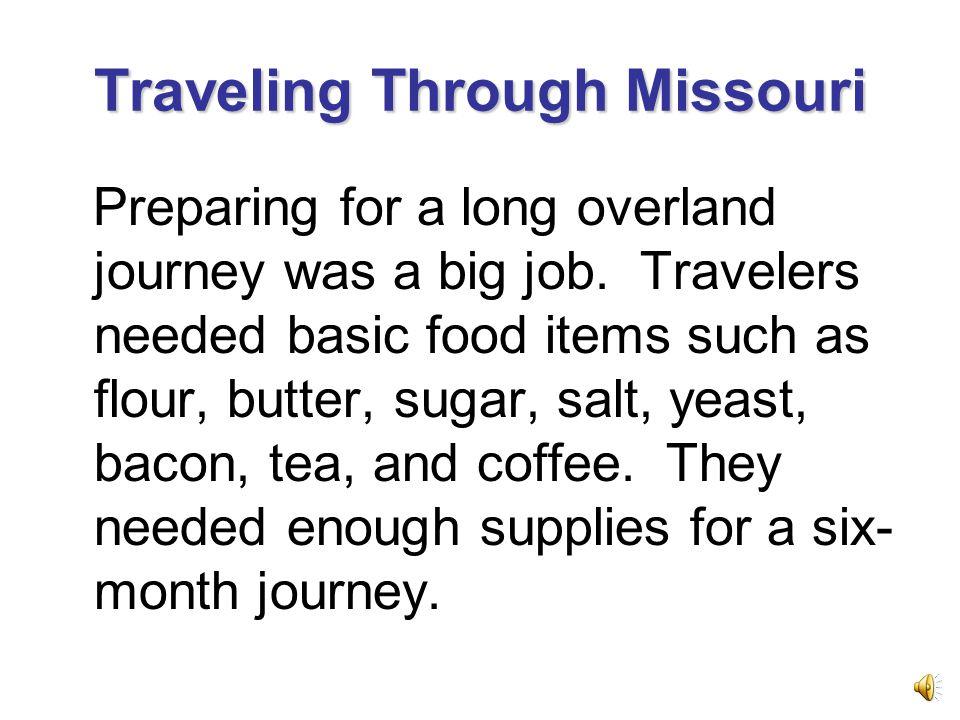 Traveling Through Missouri