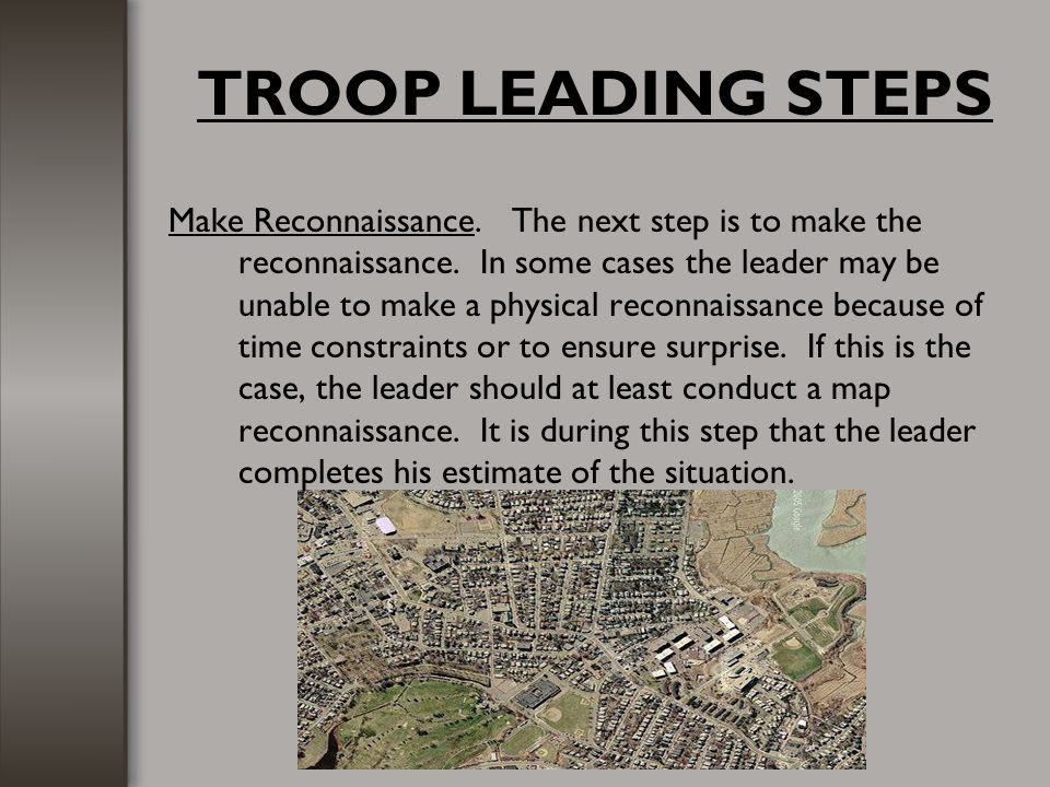 TROOP LEADING STEPS