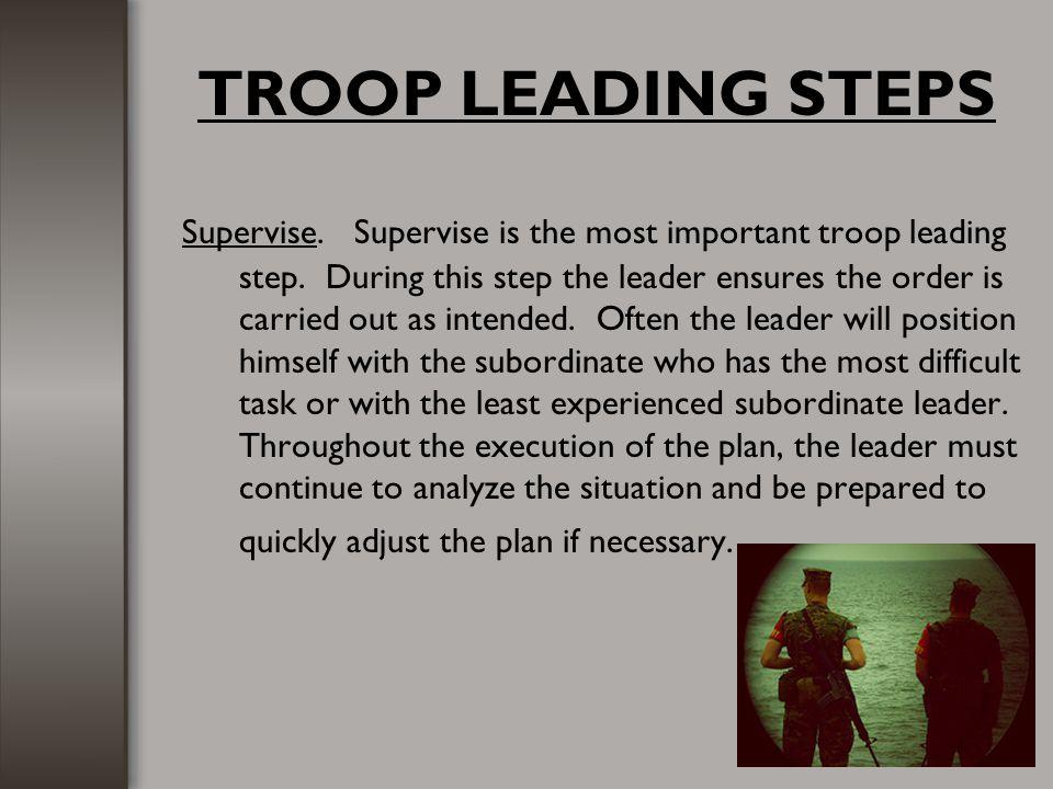 TROOP LEADING STEPS