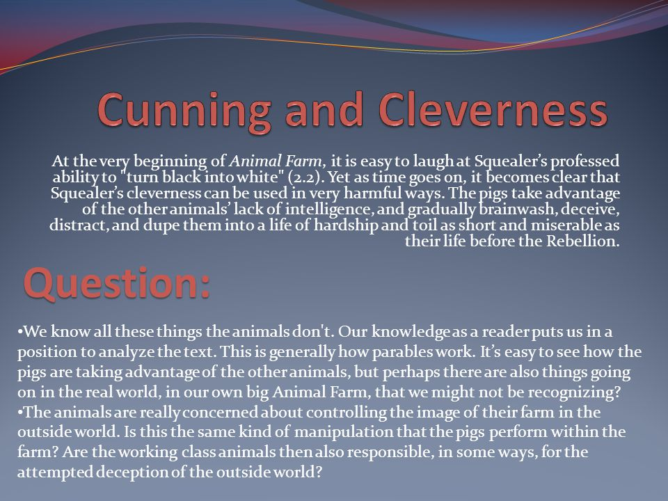 Cunning and Cleverness