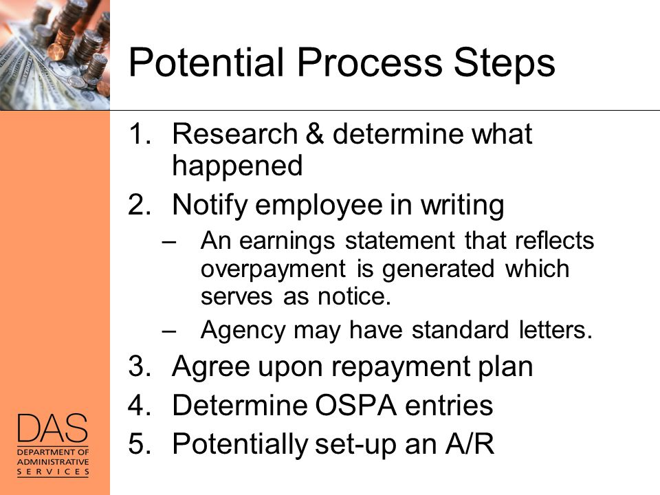Potential Process Steps