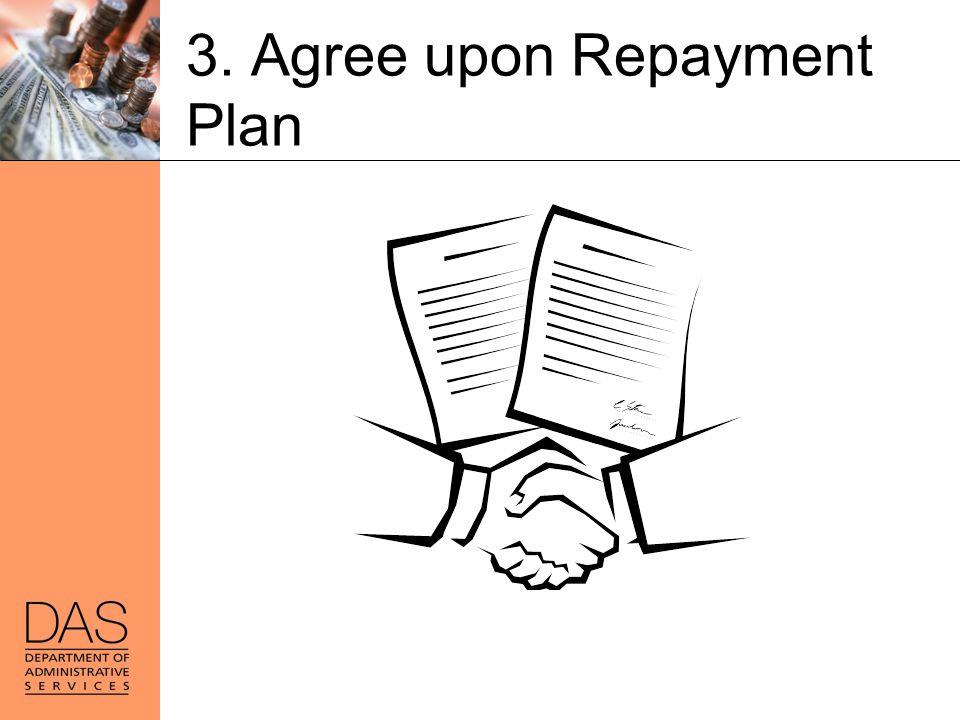 3. Agree upon Repayment Plan