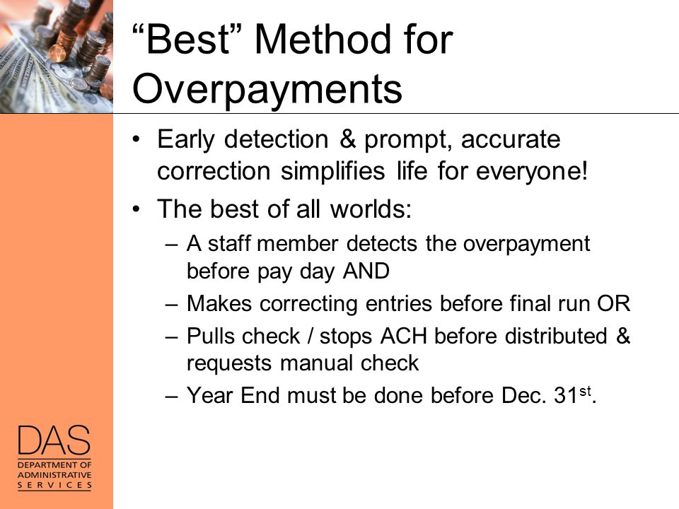 Best Method for Overpayments