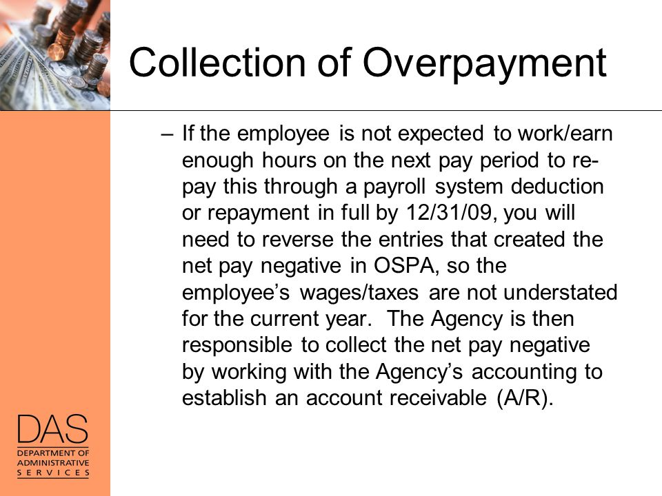 Collection of Overpayment