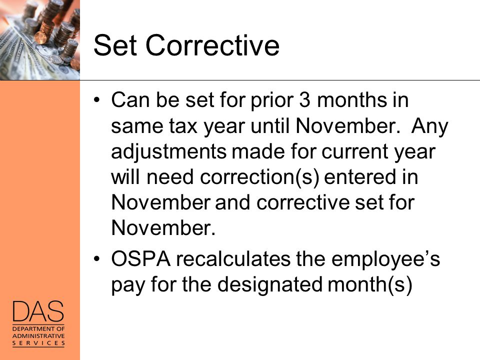 Set Corrective