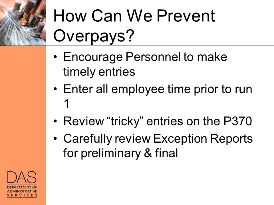 How Can We Prevent Overpays
