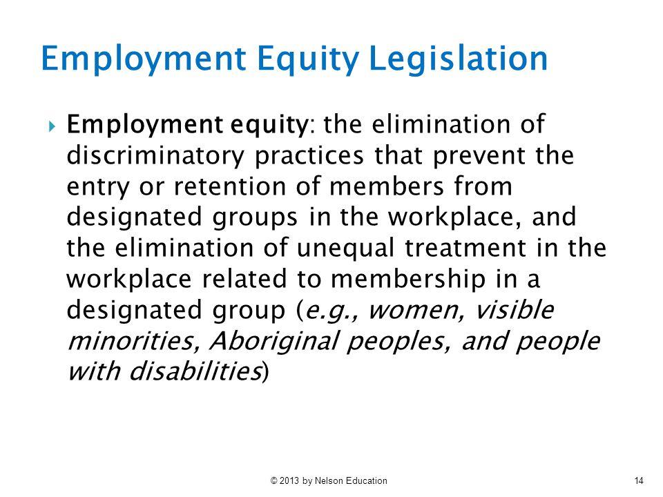 Employment Equity Legislation