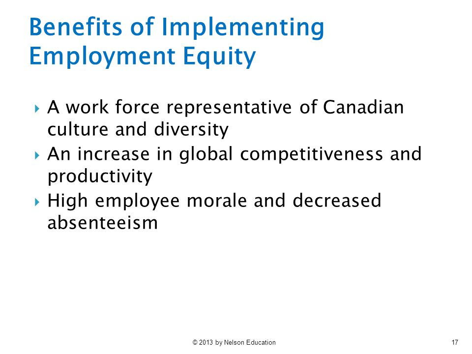 Benefits of Implementing Employment Equity