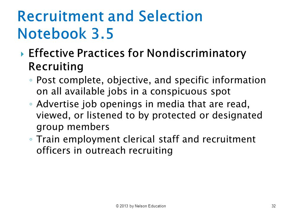 Recruitment and Selection Notebook 3.5