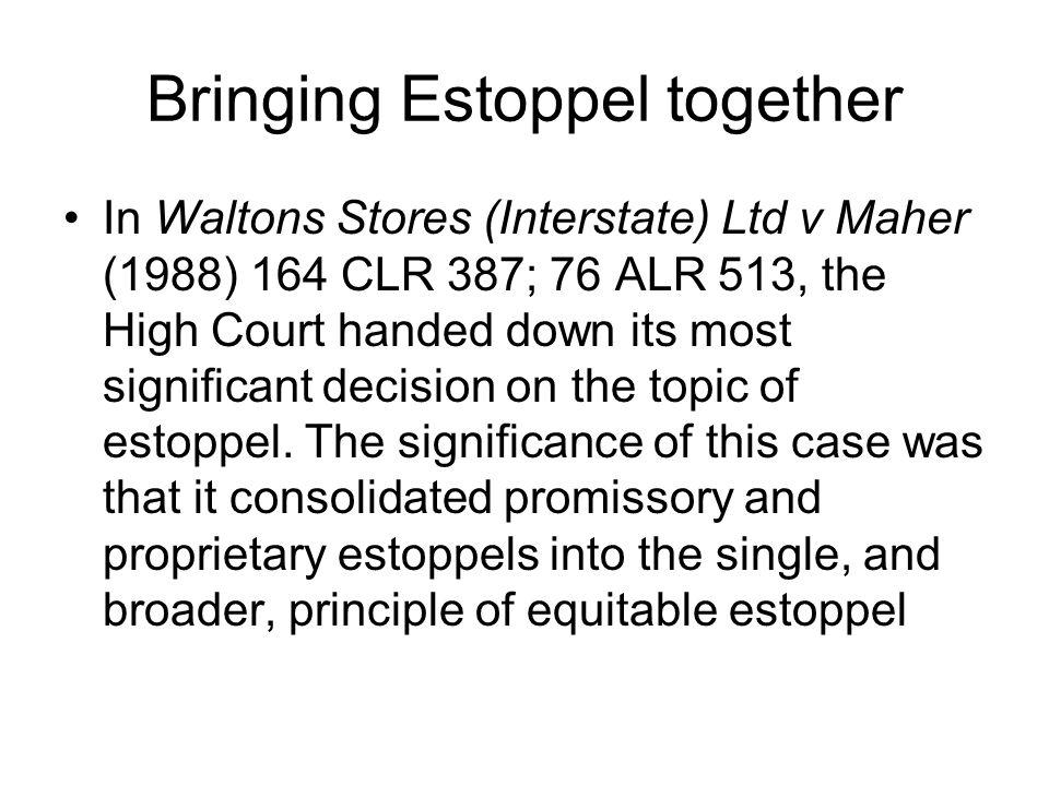 Bringing Estoppel together