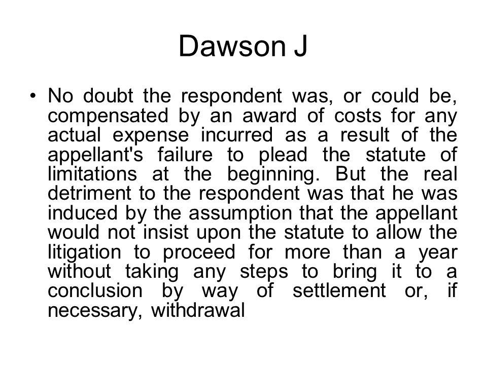 Dawson J