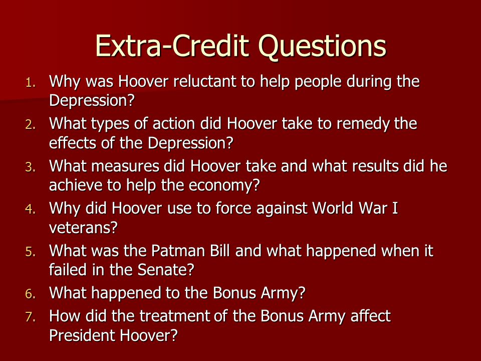 Extra-Credit Questions