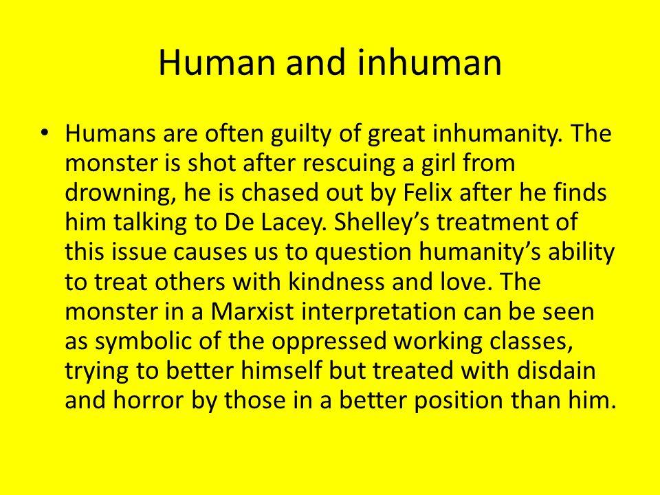Human and inhuman