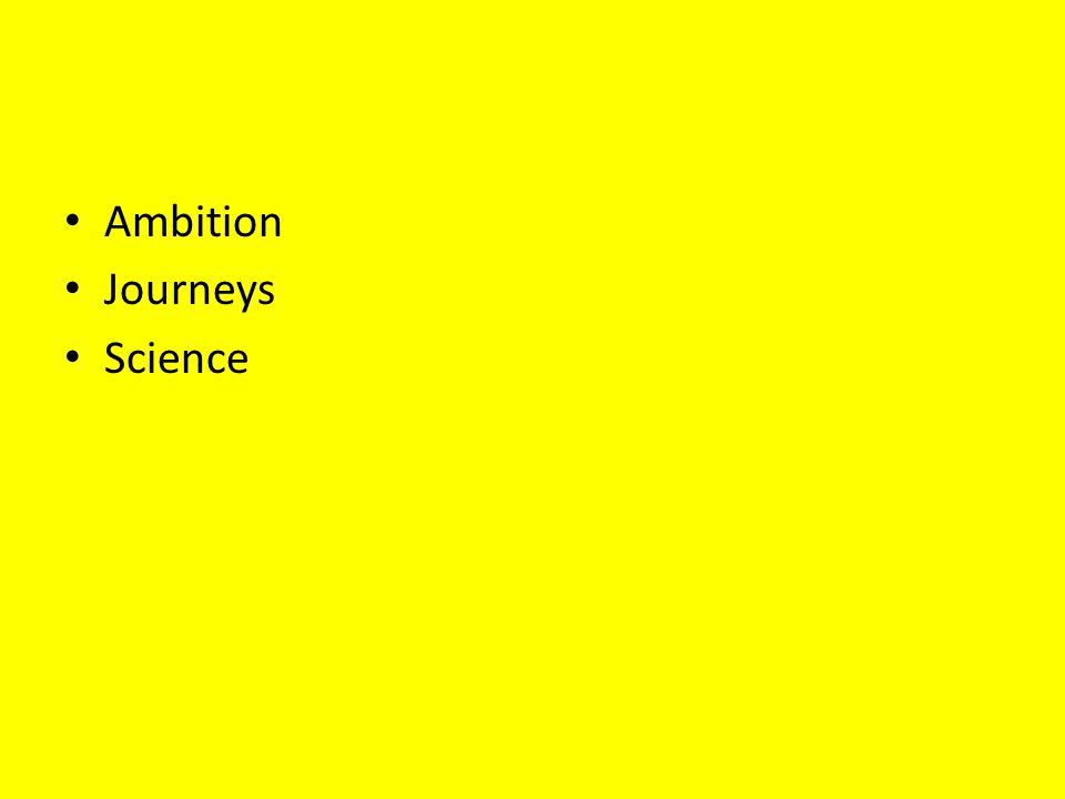 Ambition Journeys Science