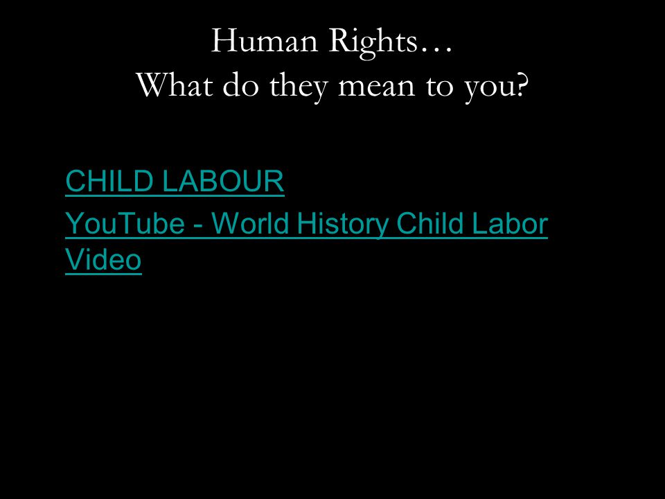 Human Rights… What do they mean to you