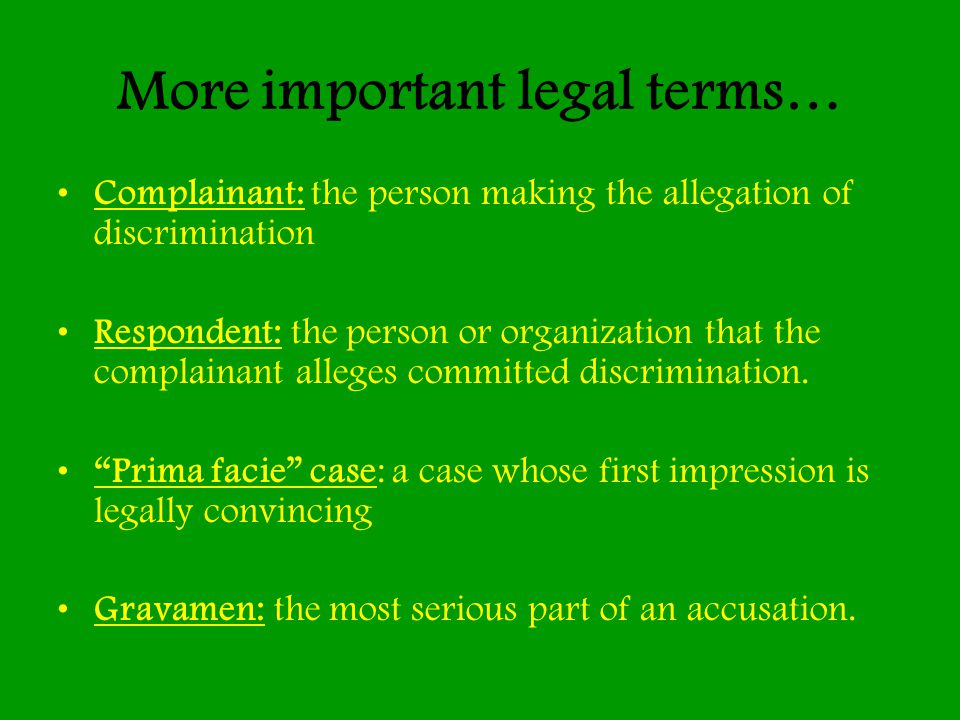 More important legal terms…