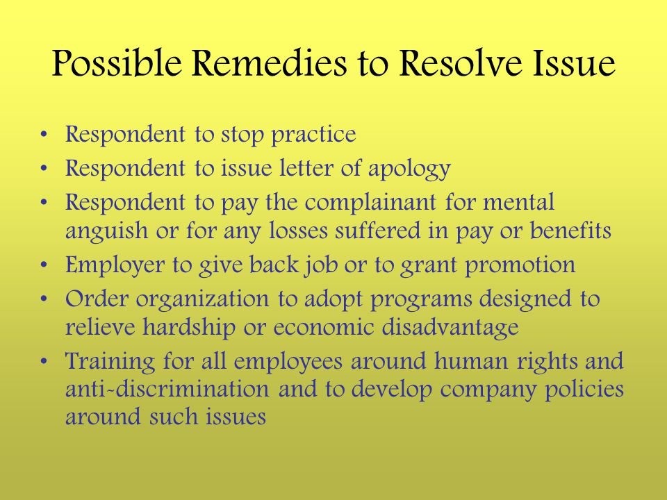 Possible Remedies to Resolve Issue