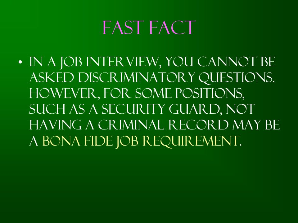 Fast Fact