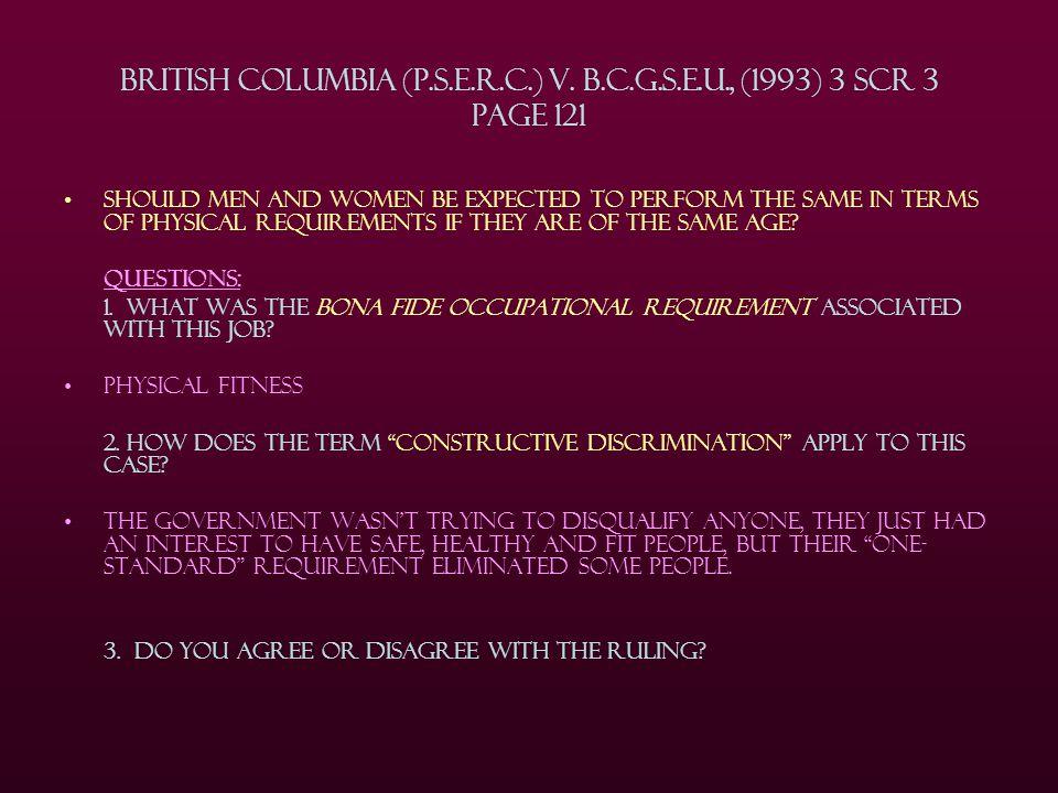 British Columbia (P.S.E.R.C.) v. B.C.G.S.E.U., (1993) 3 SCR 3 Page 121
