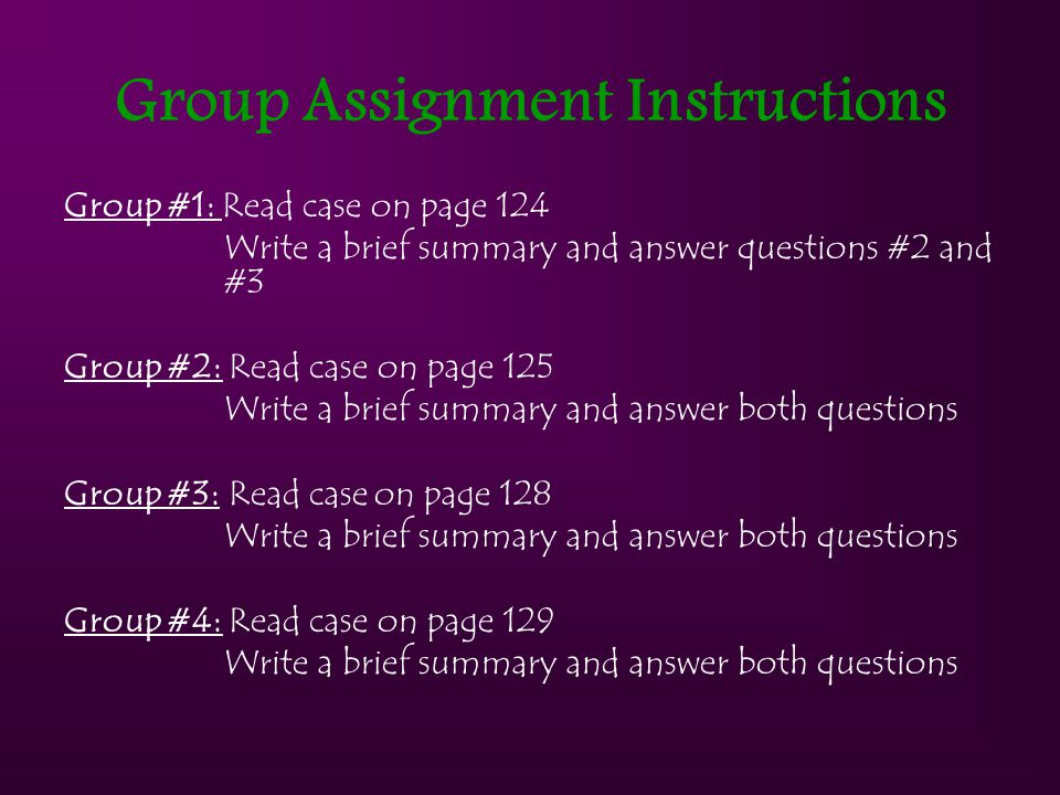 Group Assignment Instructions
