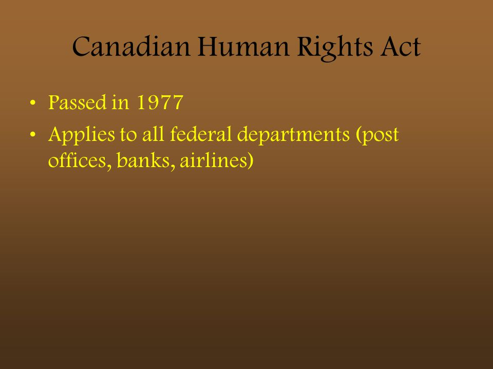 Canadian Human Rights Act