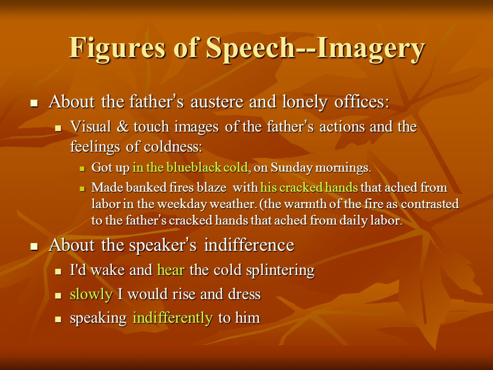 Figures of Speech--Imagery