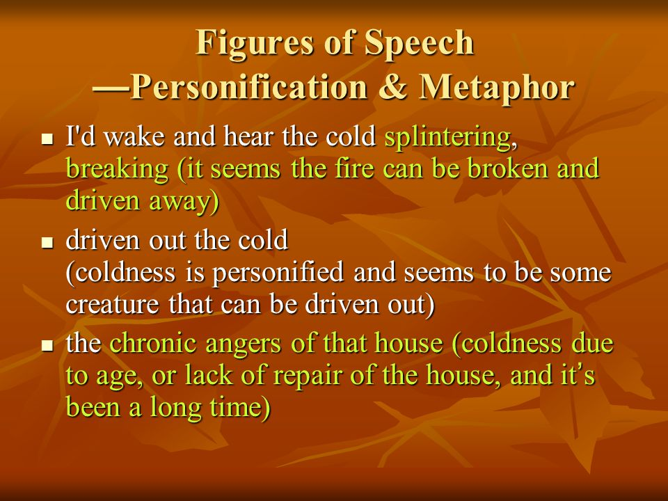Figures of Speech —Personification & Metaphor
