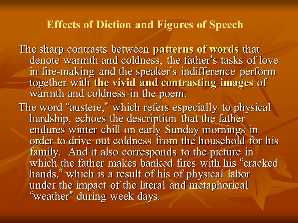 Effects of Diction and Figures of Speech