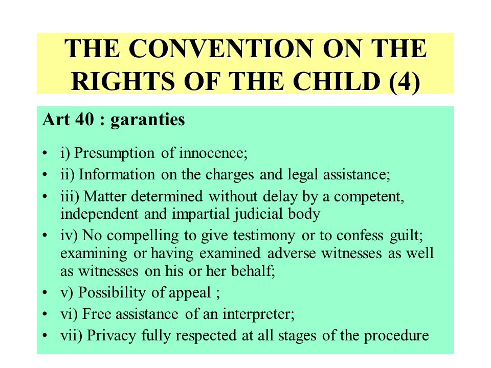 THE CONVENTION ON THE RIGHTS OF THE CHILD (4)