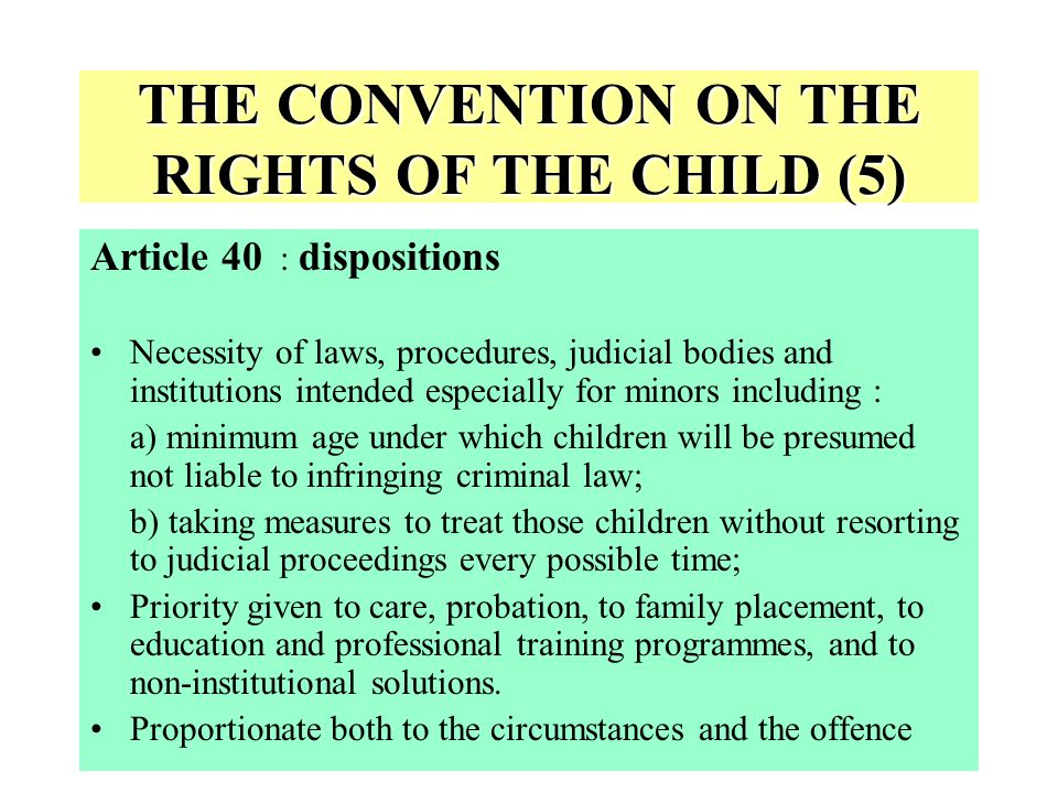 THE CONVENTION ON THE RIGHTS OF THE CHILD (5)