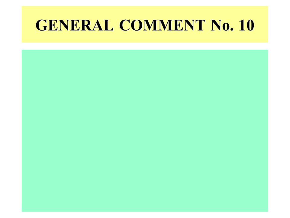 GENERAL COMMENT No. 10