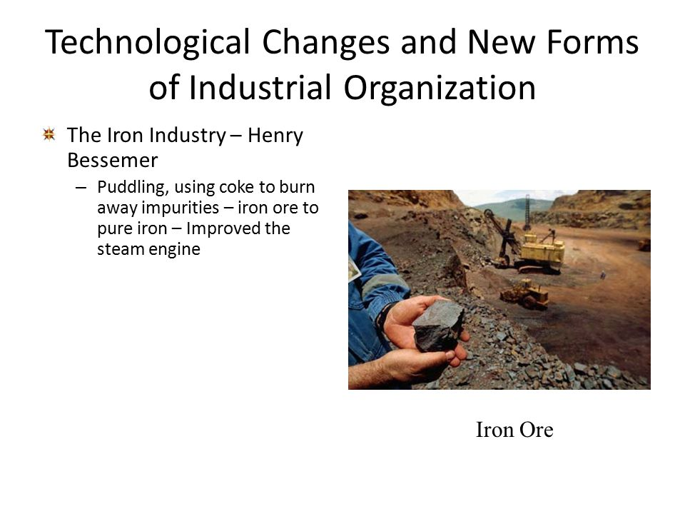 Technological Changes and New Forms of Industrial Organization