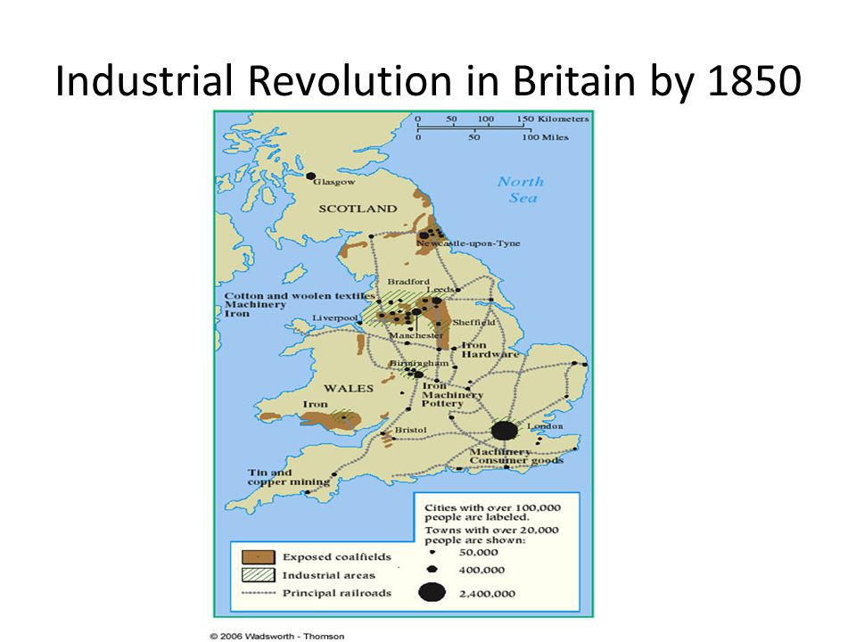 Industrial Revolution in Britain by 1850