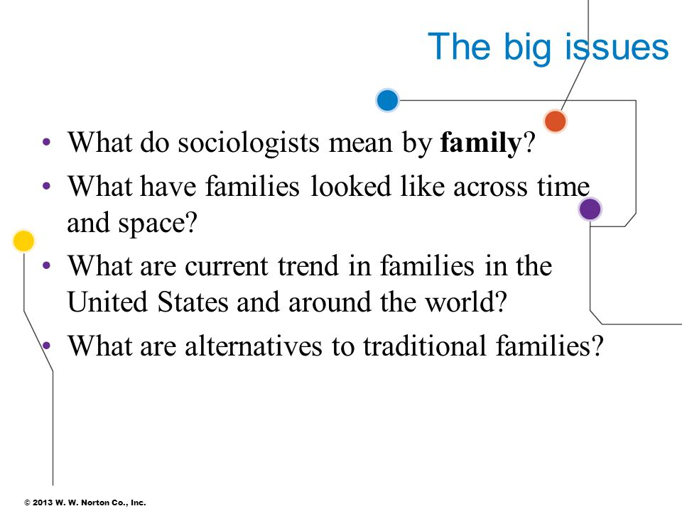 The big issues What do sociologists mean by family