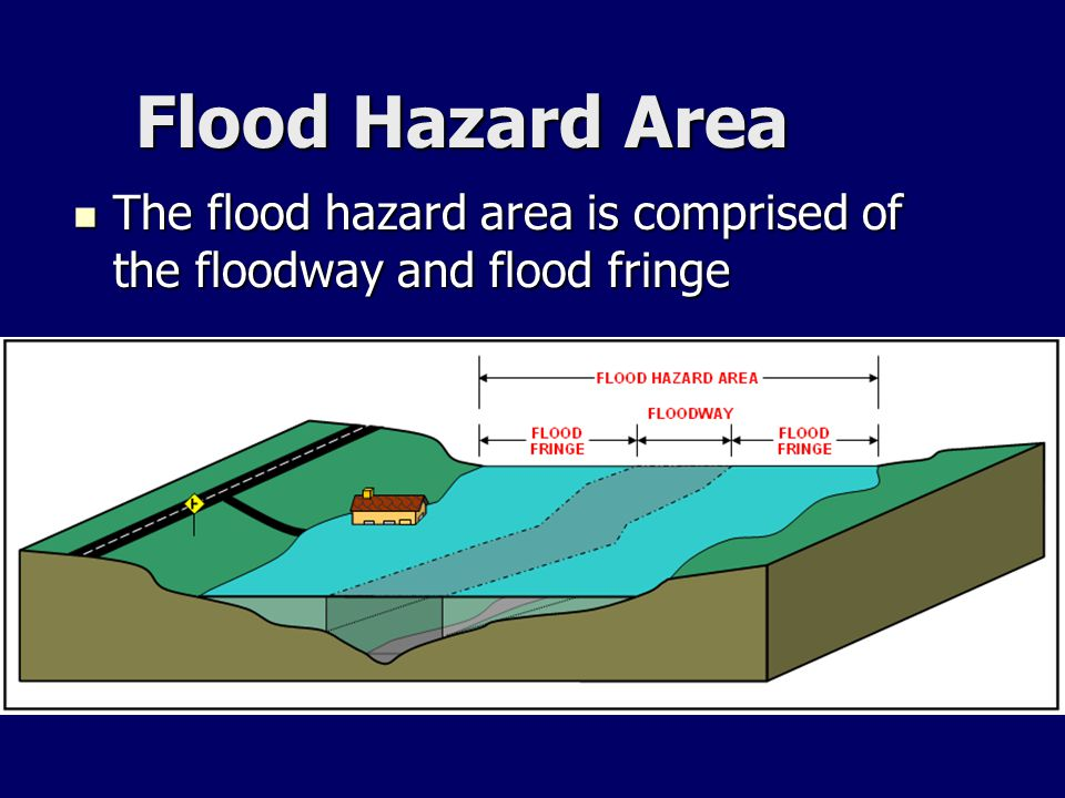 Flood Hazard Area The flood hazard area is comprised of the floodway and flood fringe