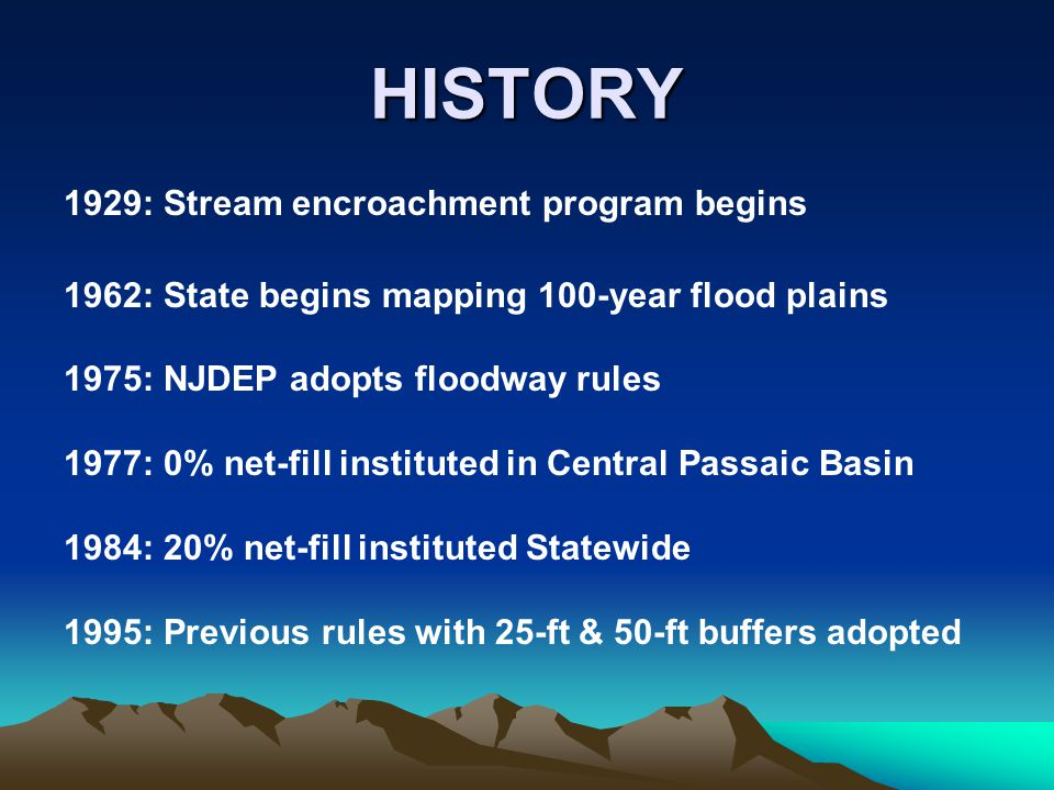 HISTORY 1929: Stream encroachment program begins