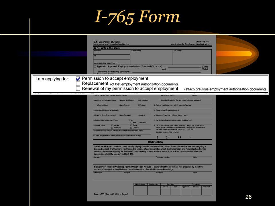 I-765 Form a