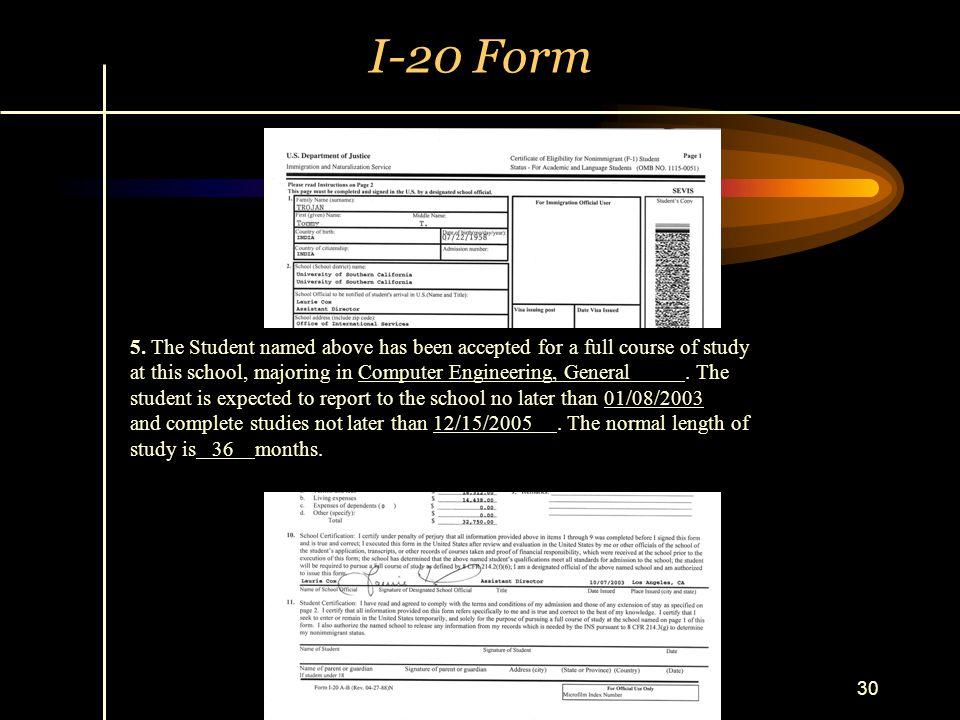 I-20 Form